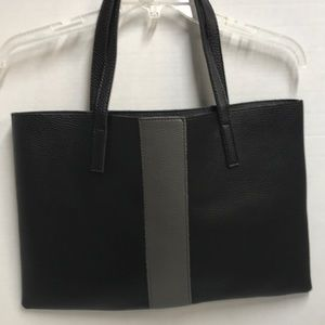Vince Camuto VC-To-Luck Black/Gray Leather Bag